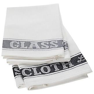 2 Glasputztücher grau/grau