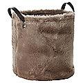 Faux Fur Storage Tote, 21.5L