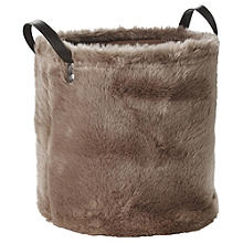 Faux Fur Storage Tote, 21.5L