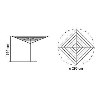 50m Brabantia® Topspinner Rotary Airer  alt image 6