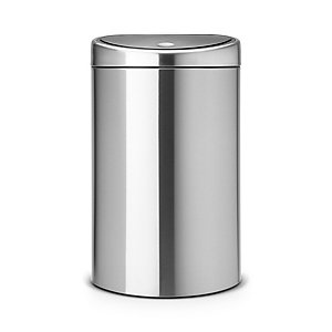 Brabantia® Soft Touch Lid Recycle Kitchen Waste Bin - Silver 23L/10L