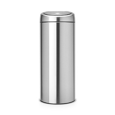 Brabantia® Soft Touch Lid Kitchen Waste Bin - Silver 30L