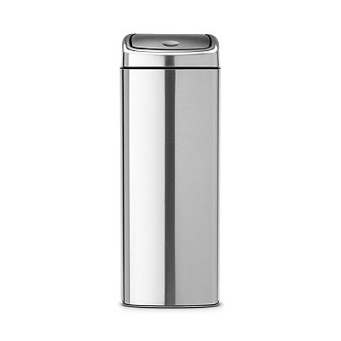 Brabantia® Soft Touch Lid Kitchen Waste Bin - Silver 25L
