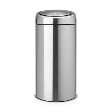 Brabantia® Soft Touch Lid Recycle Kitchen Waste Bin - Silver 20L/20L
