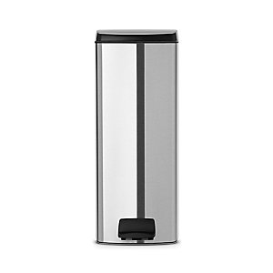 Brabantia® Silent Close Kitchen Waste Pedal Bin - Silver 25L