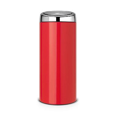 Brabantia® Soft Touch Lid Kitchen Waste Bin - Red 30L