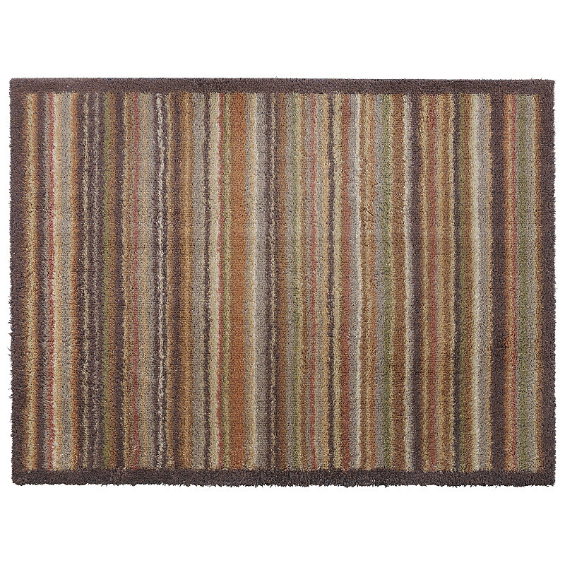 Narrow Door Mat & Ochre Narrow Stripe Turtle Mat Alt Image