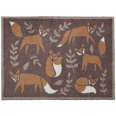 Folky Foxes Turtle Mat