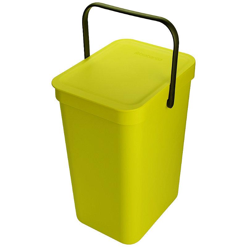 brabantia sort go 12 liter gelb moderner komposteimer mit deckel 35 cm h ebay. Black Bedroom Furniture Sets. Home Design Ideas