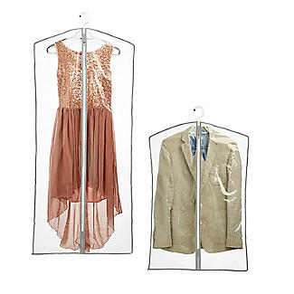 6 Clear Zip-Up Garment Bags