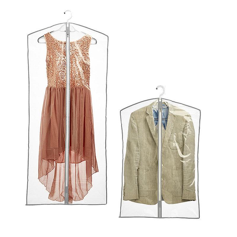 6 Clear Zip-Up Garment Bags