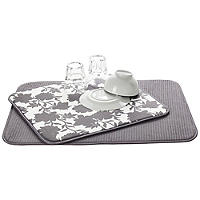 2 Double Sided Drying Mats Grey Rose