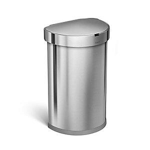 simplehuman Touch Free Sensor  Kitchen Waste Bin - Silver 45L