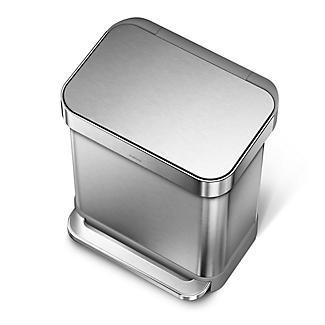 simplehuman Slimline Kitchen Waste Pedal Bin - Silver
