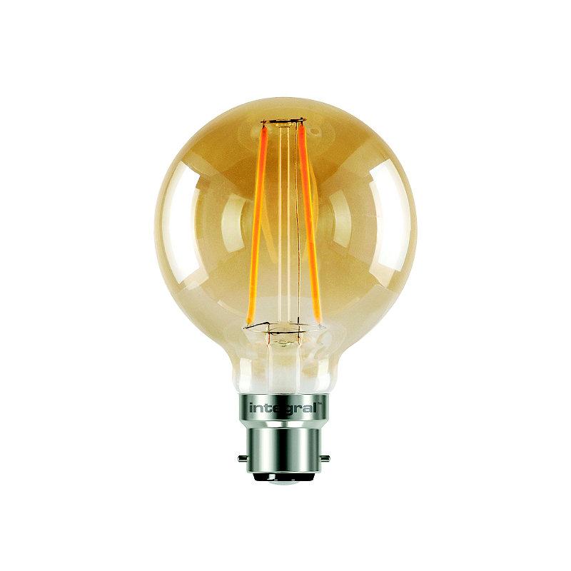LED Filament Globe Bayonet Bulb Small ILGLOBB22N002