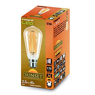LED Filament Teardrop Bayonet Bulb ILST64B22N002 alt image 2