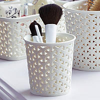 Faux Rattan Storage Pot Small x 3