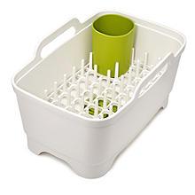 Joseph Joseph® Wash & Drain Plus Geschirrspülset, weiß/grün