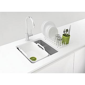Joseph Joseph Wash & Drain Plus White and Green alt image 2