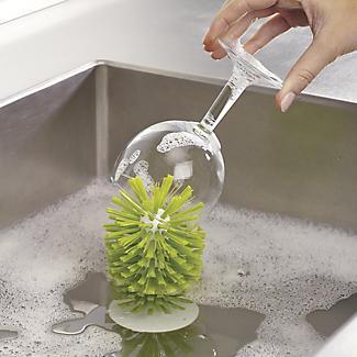 Joseph Joseph Brush-Up In-Sink Brush Green alt image 3