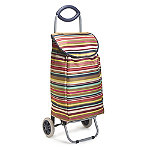 Multi-Stripe Shopping Trolley