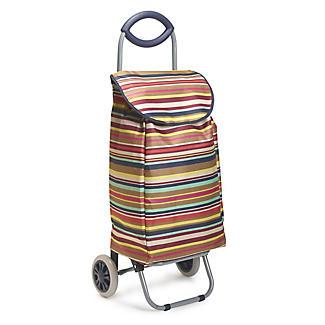 Multi-Stripe Shopping Trolley