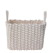 Oblong Woven Rope Tote Cream