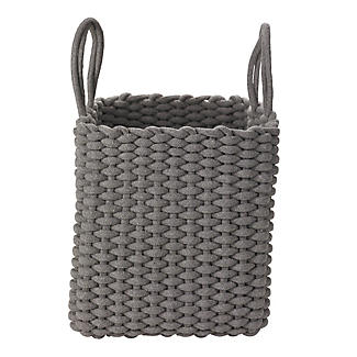 Square Woven Rope Tote Grey alt image 1