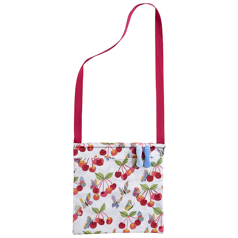 Cherry Orchard Oilcloth Peg Bag