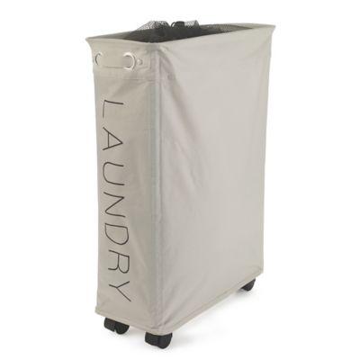 slim wheelie laundry hamper in laundry baskets and bins at. Black Bedroom Furniture Sets. Home Design Ideas