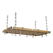 Hahn Oak Large Rectangular Ceiling Rack 45232