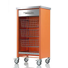Hahn Chelsea Kitchen Trolley, Orange