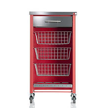 Hahn Chelsea Kitchen Trolley, Red