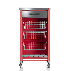 Hahn Chelsea Kitchen Trolley, Red