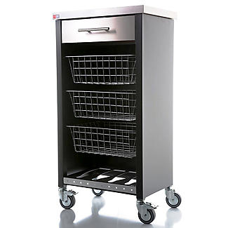 Hahn Chelsea Kitchen Trolley, Black