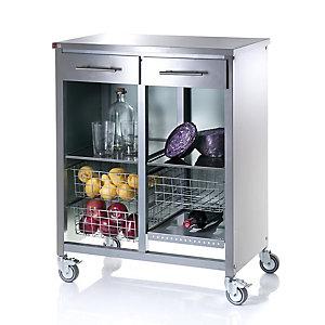 Hahn Double Steel Cook Kitchen Trolley
