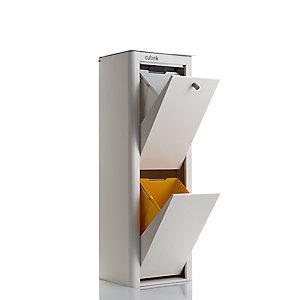 Hahn Cubek 2-Bin Recycling Unit, Warm White