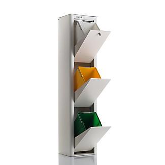 Hahn Cubek 3-Bin Recycling Unit, Warm White