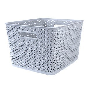 Large Faux Rattan Storage Tub