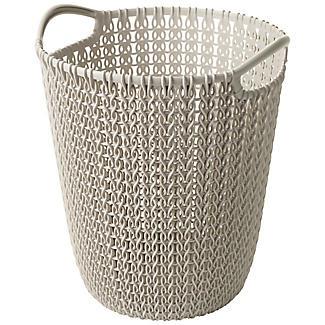 Mini Knit Effect Waste Paper Basket Dune alt image 1