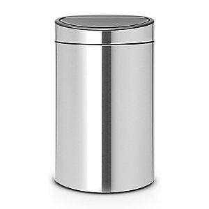 Brabantia® Touch Bin Next Recycle 10L + 23L Matt Steel