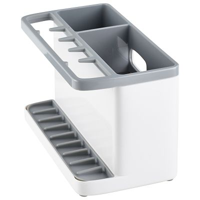 ILO Large Sink Tidy Bright WhiteGrey