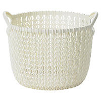 Extra Small Knit Effect Basket Cream