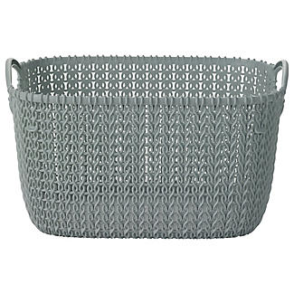 Small Knit Effect Tub Blue
