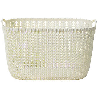 Large Knit Effect Tub Cream