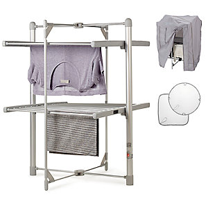 Dry:Soon 2 Tier Heated Airer with Cover and Shelf Bundle