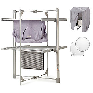 Dry:Soon 2 Tier Heated Airer with Cover and Shelf Offer Bundle alt image 1