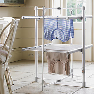 Dry:Soon 2 Tier Heated Airer with Cover and Shelf Offer Bundle alt image 2