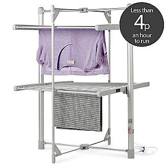 Dry:Soon 2 Tier Heated Airer with Cover and Shelf Offer Bundle alt image 3