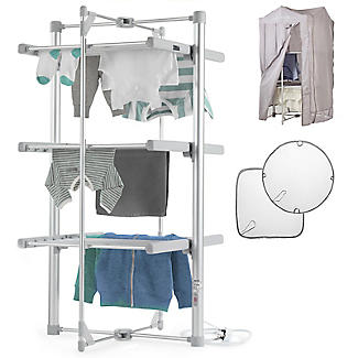 Dry:Soon 3 Tier Airer with Cover and Shelf